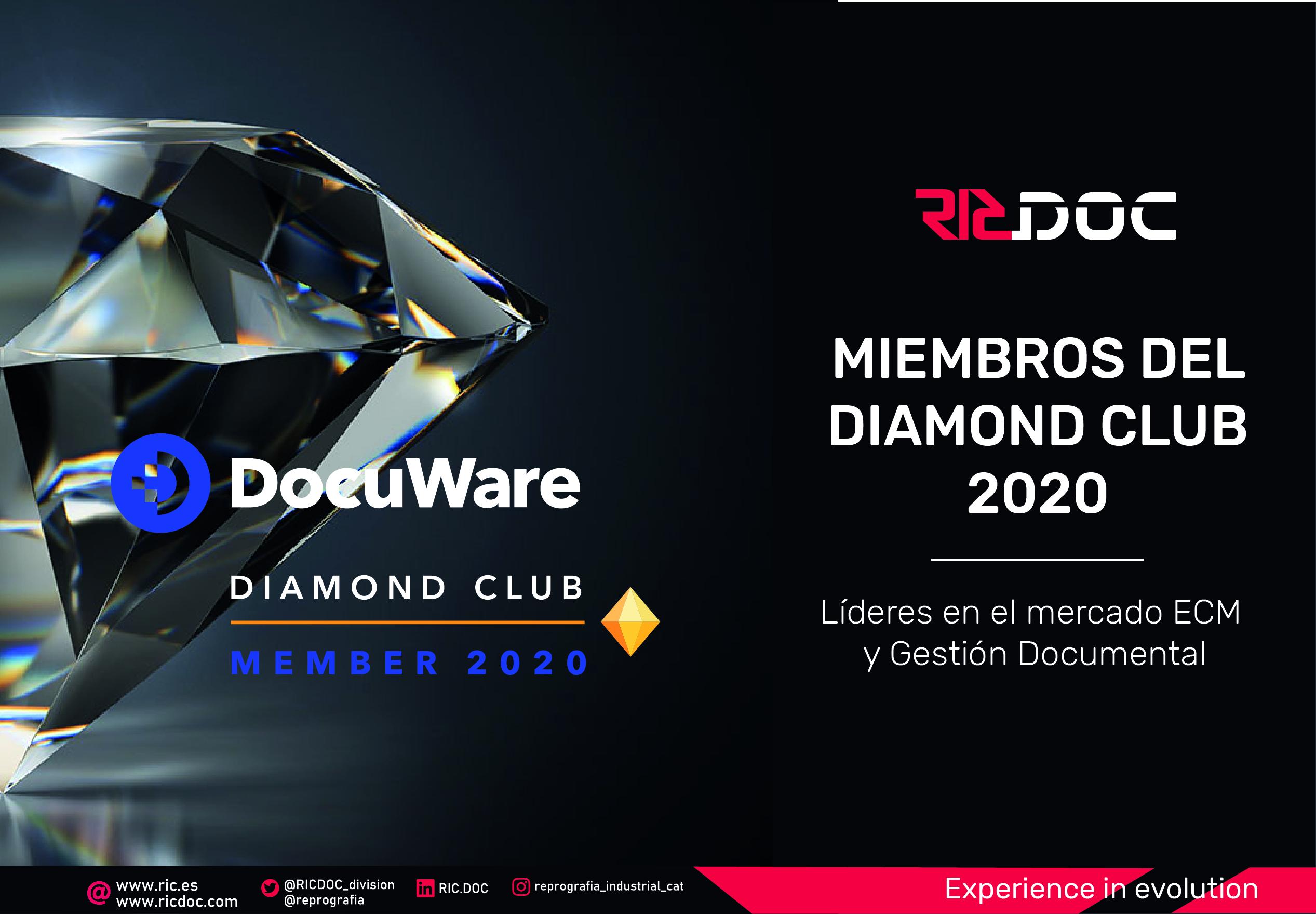 RICDOC ENTRA A LA CATEGORIA DIAMOND CLUB PARTNER 2020 DE DOCUWARE