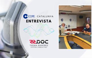 Escolta de nou l'entrevista que ens van fer en el programa 'Els Matins a COPE Catalunya i Andorra' sobre transformació digital.